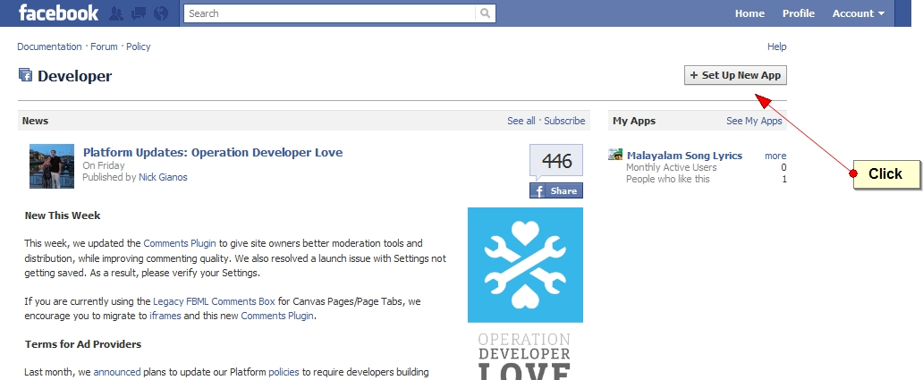Latest method to Create Custom Tabs in Facebook Fan Pages